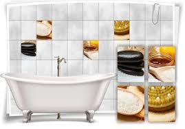 fliesenaufkleber fliesenbild zen steine salz wellness spa aufkleber deko wc bad