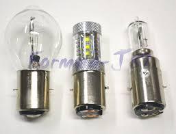 led light bulb 80w 10000k blue ba20d s2 h6 dc contact bayonet