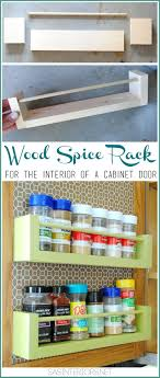 DIY Wood Spice Rach Rack For Inside The Kitchen Cabinets Less Than 8 To
