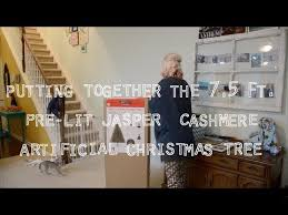 Unboxing The 75 Ft Pre Lit Jasper Cashmere Artificial Christmas Tree From Michaels With Cats