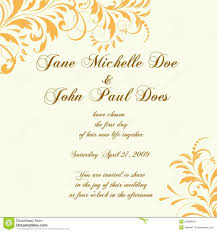 Wedding Card Or Invitation With Abstract Floral Background For Cards Craetive Yellow Accent