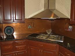 Copper Tiles For Backsplash by Copper Tiles For Backsplash In Kitchen Soothing Distressed