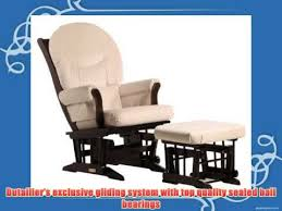 Dutailier Nursing Chair Replacement Cushions by Dutailier Foam Round Back Cushion Design Sleigh Glider And Ottoman