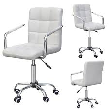 Yaheetech Rolling White Modern Ergonomic Swivel Leather ... Buy Office Chair Ea 119 Style Premium Leather Wheels China High Back Emes Swivel Chairs With Yaheetech White Desk Wheelsarmes Modern Pu Midback Adjustable Home Computer Executive On 360 Barton Ribbed W Thonet S 845 Drw Wheels Bonded 393ec3 Star Afwcom Ikea Office Chair White In Bradford West Yorkshire Gumtree 2 Adjustable Ribbed White Faux Leather Office Chairs With Wheels Eames Style Angel Ldon Against A Carpet Charming Black Genuine Arms Details About Classic Without Welsleather Wheelsexecutive