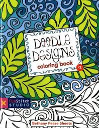 Doodle Designs Coloring Book By Bethany Pease Sheets