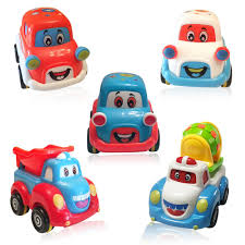 Cars And Trucks Play Set For Toddlers And Kids - 3 Pull Back Car ...