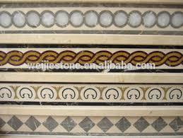 Natural Marble Floor Border Simple Designs Waterjet Inlay Work