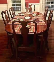 Cherry Dining Room Sets Court Set 6 Chairs Table China Cabinet Thomasville Used
