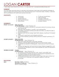 Resume Of Sales Associate Level Sample Fashion Examples