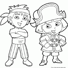 Dora The Explorer Diego Coloring Pages PagesFree