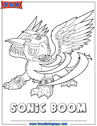 Winsome Design Skylanders Giants Printables Air Sonic Boom Coloring Page