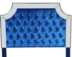 Purple Velvet King Headboard by Wingback Tufted Bed King Size Queen Size Full Size Wing Back