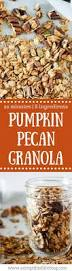 Pumpkin Flaxseed Granola Nutrition best 25 pumpkin granola ideas on pinterest cooking pumpkin