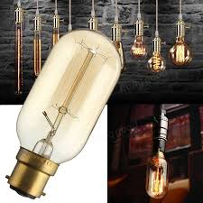 t45 b22 220v 40w 160lm incandescent bulb retro edison light bulb