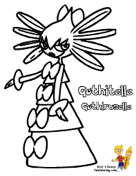 Gothitelle Pokemon For Coloring Pages Kids Boys At YesColoring