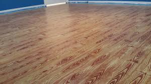 Painted Plywood Floors Basketball Court Applying The Gel Stain Stained Floor