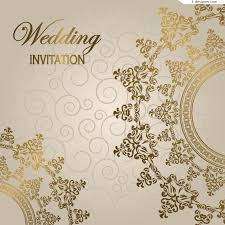 Gorgeous European Style Wedding Invitation Card Vector Material
