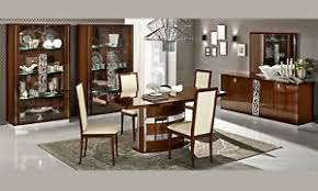 details zu wohnzimmer esszimmer komplett set nussbaum hochglanz moderne italienische möbel