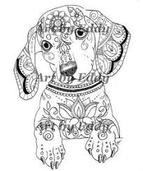 This Coloring Page Consists Of 1 Hand Drawn Image A Beautiful Dachshund For You To Color The File Is High Quality PDF Containing Images That