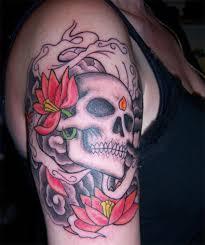 Cool Skull Tattoo Design For Female