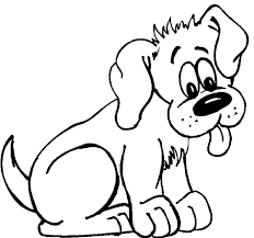 Cute Coloring Picture Of A Panting Puppy