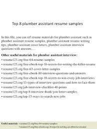 Plumbing Resume 28 Plumber 2018 Best Templates