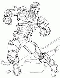 Coloring Pages For Iron Man 2 Page