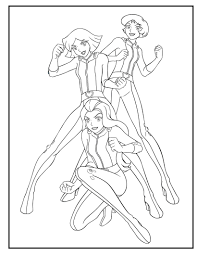 Coloriages Totally Spies Frhellokids Like Dessin De Fille En Robe