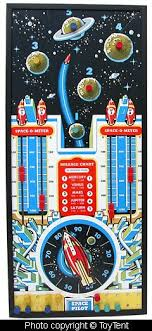 Space Pilot Game Framed Display Cadaco Ellis Board 1951