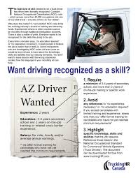 100 Truck Driving Requirements National Occupational Standards Ing HR Canada