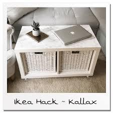 ikea hack living room table kallax shelf in 2020 ikea