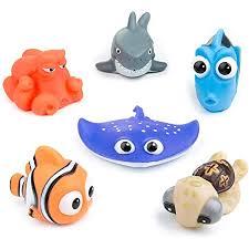 diealles shine baby badespielzeug set 6 pcs mit badezimmer spielzeug aufbewahrung schwimmendes spielzeug für baby spritz badetiere badewanne set
