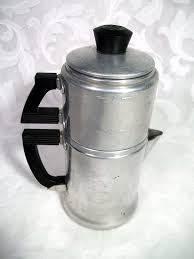 Vintage Italian Coffee Maker Wear Ever 2 Cup Aluminum Stove Top Drip Model