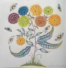 Tombows Irojiten Coloured By Morena Vajak Garden PicturesAdult ColoringColoring BooksInspirationalJohanna Basford Secret