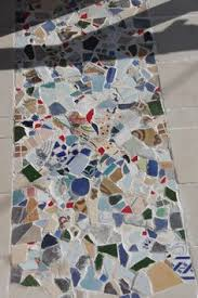 We Made This Mosaic With Broken Old Tiles At The Home Entrance Floor