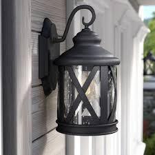 metal plastic outdoor wall lighting you ll wayfair