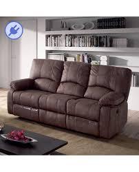 canap relax 3 places confort canapé 3 places relaxation électrique tissu marron