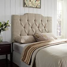 Fabric Headboards King Cal Queen Or Full Size With Padded by Elle Decor Tufted Upholstered Headboard Hayneedle