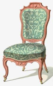 Green Decorative Hand Painted Vintage Lounge Chair Retro Decoration Free PNG And PSD