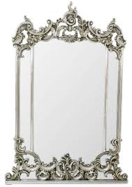 casa padrino barock spiegel silber 75 x h 130 cm prunkvoller wandspiegel im barockstil antik stil garderoben spiegel wohnzimmer spiegel
