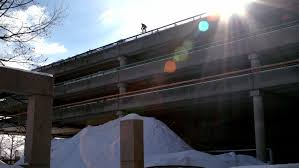 Boston Skier Jumps f 5 Story Parking Garage