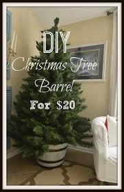 Christmas Tree Barrel For 20 With A Coastal Feel Slightly