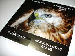 Showing The Difference Between Clear And Non Reflective Picture Frame Glass