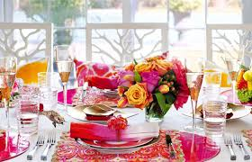 Colorful Table Setting Spring Decorations Centerpieces