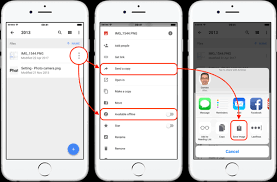 How to photos from a Google drive on an iPhone