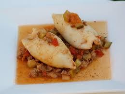 recette encornets farcis viande légumes cuisinez encornets farcis