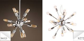 knockout knockoffs restoration hardware sputnik chandelier the