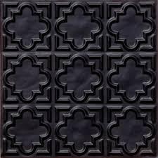 Decorative Ceiling Tiles 24x24 by Amazon Com 142 Faux Ceiling Tile Glue Up 24x24 Black Home