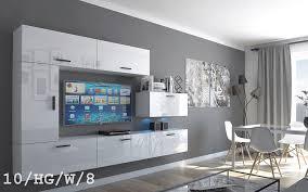 möbel für wohnzimmer weiß hochglanz future 10 c10