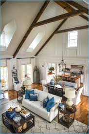 Colonial Open Floor Plan Interior Design For Small Living Room With